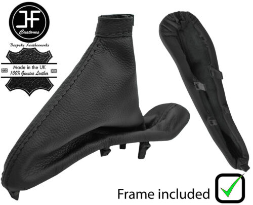 cadre en plastique Convient à ALFA ROMEO 147 01-09 Black Stitch Cuir Frein à Main Soufflet