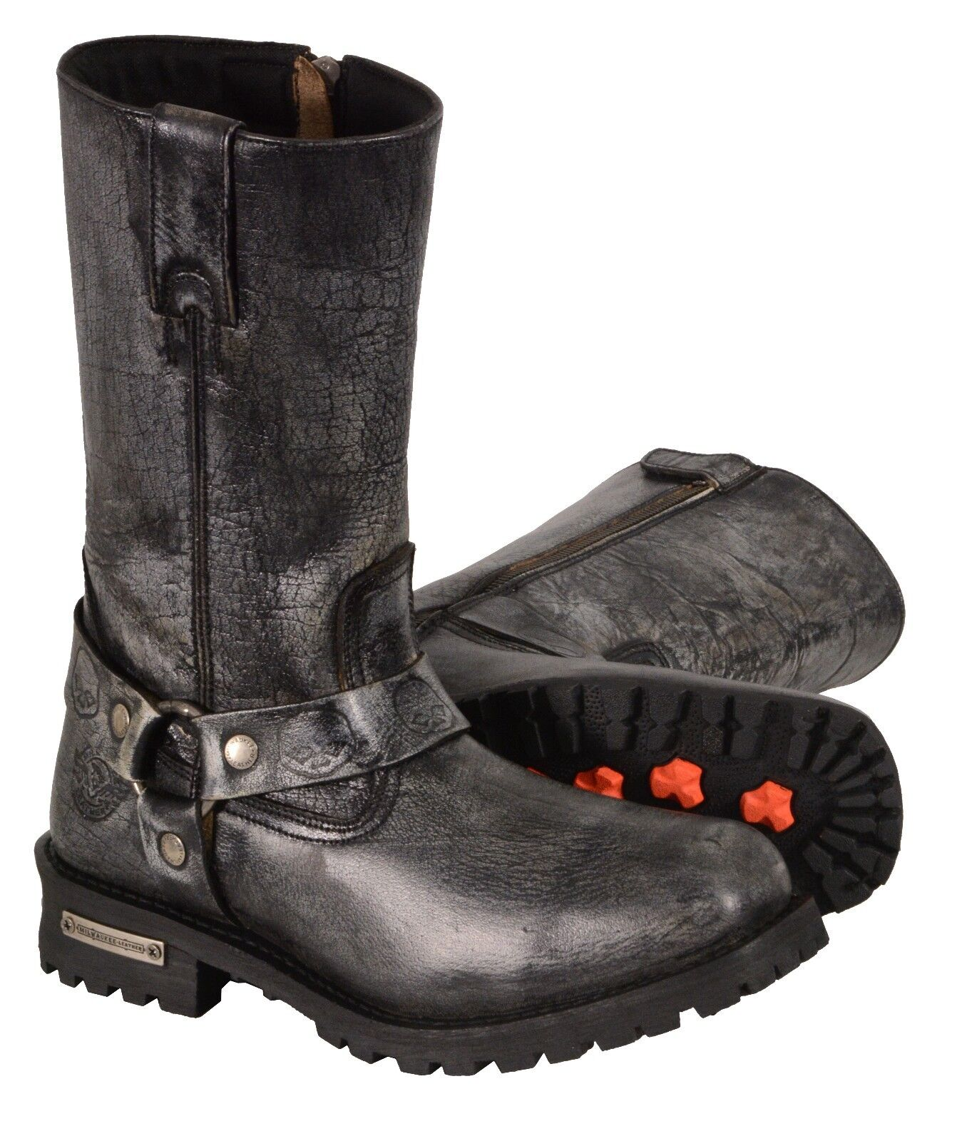 Distressed GRAY Leather Men's 11