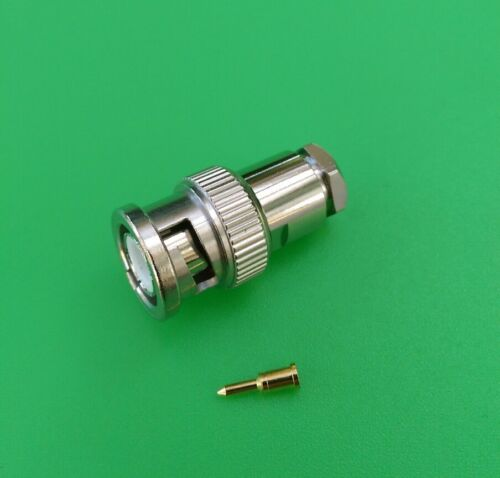 BNC Male Clamp Connector for RG6 RG304 LMR300 Cable USA Seller 10 PKS