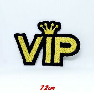 Neuf-Lettre-Vip-Icon-Acrylique-Brode-a-Repasser-Patch-a-Coudre-1273