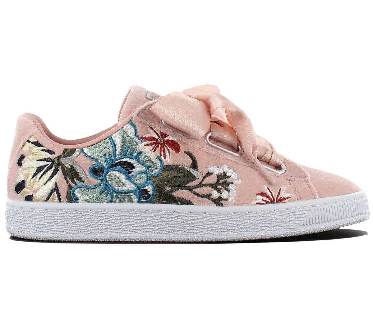 PUMA Basket Heart HYPER FLOWER EMB scarpe scarpe scarpe da ginnastica Donna Scarpe Da Ginnastica 366116-02 NUOVO 32ab3c