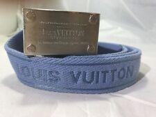 AUTHENTIC LOUIS VUITTON M9701 INVENTEUR BLUE BELT SZ 90/36 (fits 30-32 Waist)