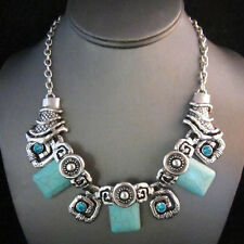 NEW Silver Brighton Bay Turquoise Bead Glow Teal Bead Necklace