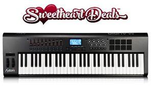 m audio axiom 61 note portable keyboard semi weighted keys midi controller ebay. Black Bedroom Furniture Sets. Home Design Ideas