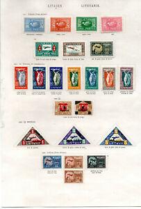LItauen-Briefmarken gemischte Erhaltung gest.
