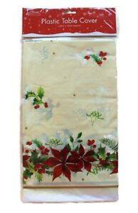 Noel-Festive-Table-Cover-Cloth-Mariage-Fete-Decor-120-x-180-cm-Poinsettia