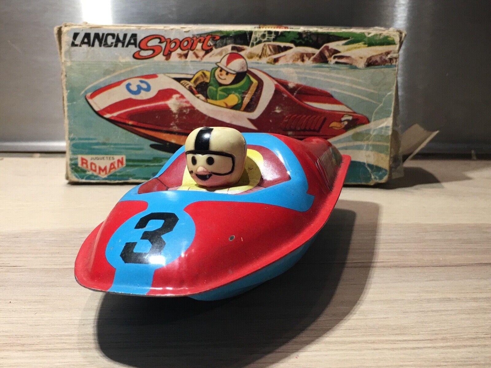 Bateau de course - Lancha Sport à friction, ROMA'N-JUGUETES,  boite d'origine.