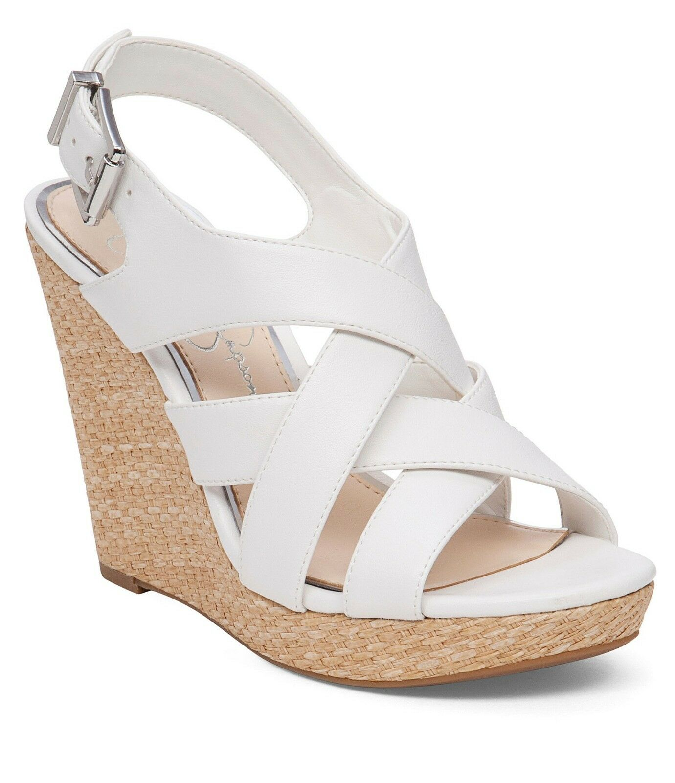 Jessica Simpson Jamallo Wedges, Sizes 6.5-10 Powder Sleek JS-Jamallo White