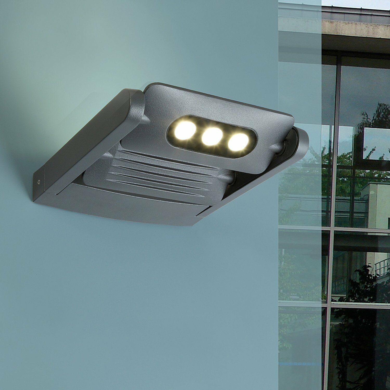 Eco Light Wandleuchte / Außenleuchte LEDSPOT LEDSPOT LEDSPOT in anthrazit mit 2x 3x3W CREE LED 653a84