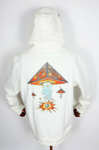 Huf Worldwide Hooded Pullover Hoodie Doomsday Triple Triangle White in M