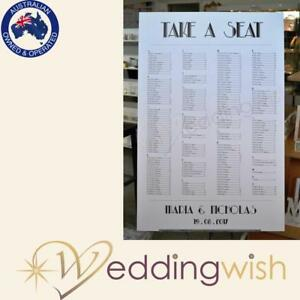 Image Is Loading Wedding Seating Chart Printed A1 Table Board