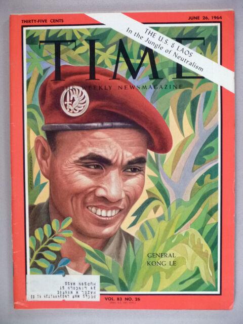 Time Magazine - June 26, 1964 ~~ Laos, General Kong Le