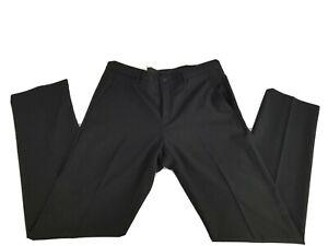 Calvin Klein Para Hombre Pantalones De Vestir Negra Talla 32x32 Slim Fit Plano Frontal Ebay