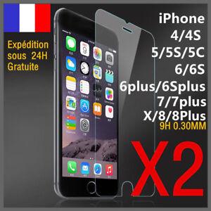 VITRE-PROTECTION-VERRE-TREMPE-ECRAN-PROTECTEUR-INCASSABLE-Pour-iPhone-6-6S-7-8-X