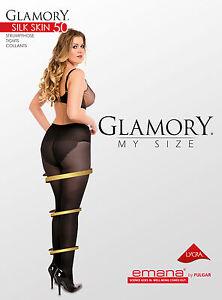 Glamory-SILK-SKIN-50-Strumpfhose-semi-blickdicht-Gr-IV-VIII-schwarz