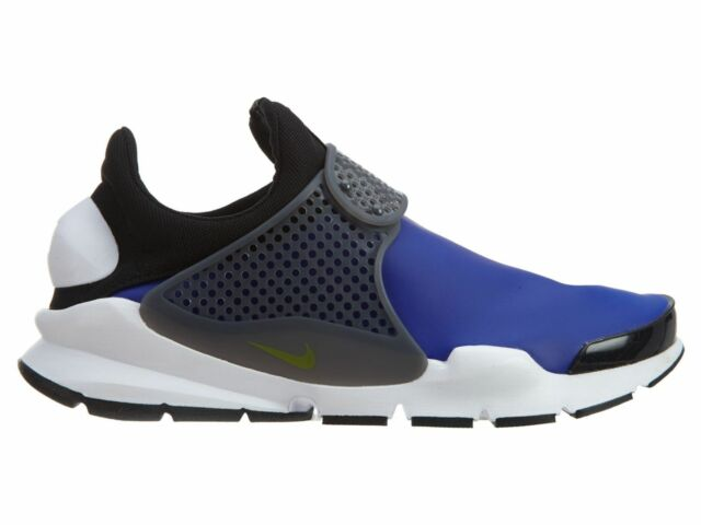 4d94338f37200 Nike Sock Dart SE Mens 911404-400 Paramount Blue Electrolime Running Shoes  Sz 10