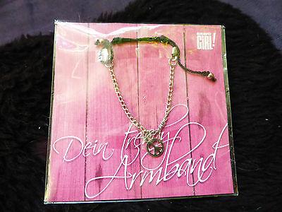 Armband Mädchen Silberfarben M. Peace Anhänger Aus Bravo Girl Originalverpackt SorgfäLtige FäRbeprozesse
