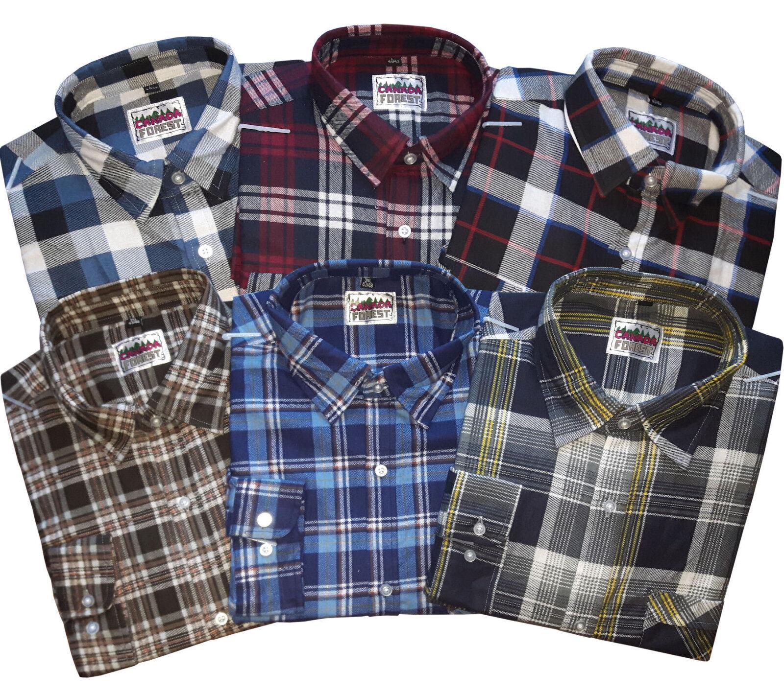 3 camicie da boscaiolo da lavoro EXTRA LUNGA 105 CM FLANELLA 70010