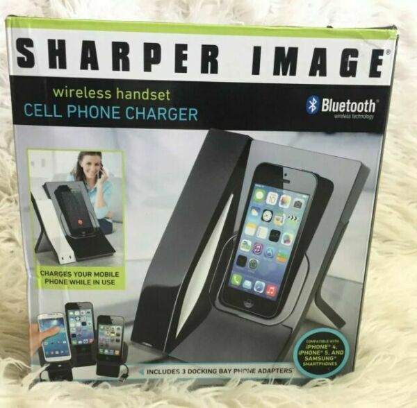 Sharper Image Wireless Bluetooth Handset Iphone 4 5 Samsung Cell Phone Charger For Sale Online Ebay