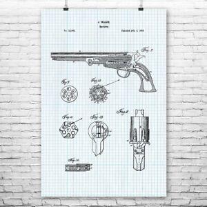 Old West Revolver Poster Print Western Decor Gun Collector Cowboy Gift