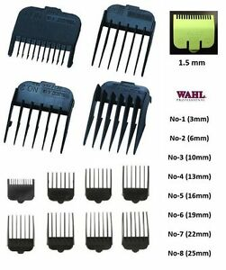 Details about ATTACHMENT Plastic COMBS for WAHL Hair Clippers , Number 1 2  3 4 5 6 7 8