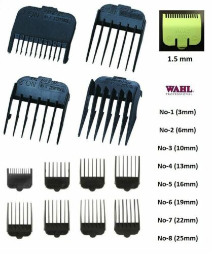 2X ATTACHMENT Plastic COMBS for WAHL Hair Clippers Number 1 2 3 4 5 6 7 8