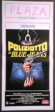 Locandina POLIZIOTTO IN BLUE JEANS 1°ED.IT.1992 CHRISTIAN SLATER MILLA JOVOVICH