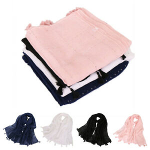 Fashion-Women-Muslim-Sequin-Long-Hijab-Scarf-Tassel-Shawls-Wrap-Arab-Scarves-New