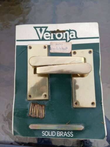 Internal solid brass door handles Brand new Free P/&P Priced for one pair.