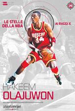 LIBRO BOOK N°29 HAKEEM OLAJUWON LE STELLE DELLA NBA AI RAGGI X HOUSTON