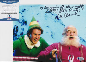 Ed-Asner-Up-Elf-Signed-Autograph-8x10-Photo-W-Inscription-Beckett-BAS-COA-15