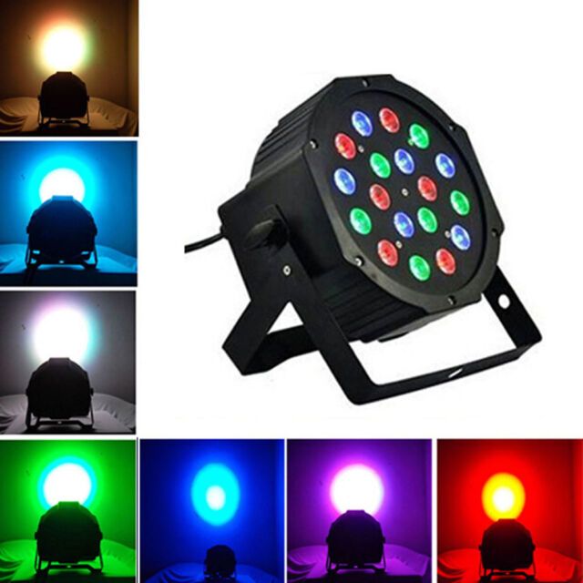 New 18W RGB LED STAGE LIGHT PAR DMX-512 Lighting Projector Party DJ LIGHT