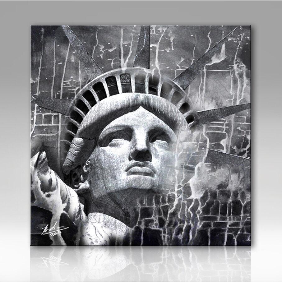 Freiheitsstatue New York Wandbilder Bilder Leinwand Kunst Deko Abstrakt 2317A