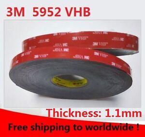 3M VHB 5952 black Double-sided Acrylic Foam Tape Automotive length 33Meter (Roll