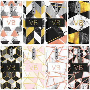 DYEFOR-PERSONALISED-GEOMETRIC-MARBLE-INITIALS-PHONE-CASE-COVER-FOR-NOKIA
