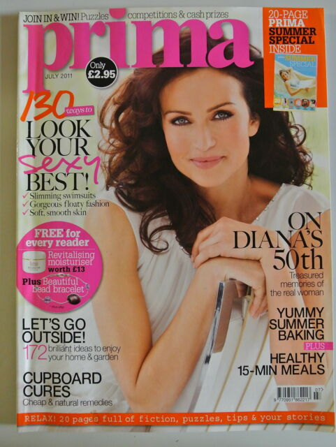 Prima Magazine July 2011. 130 ways to look your sexy best! Slimming swimsuits.