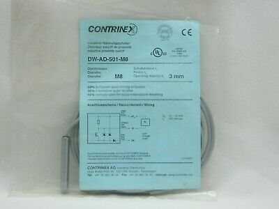 Contrinex DW-AS-622-M8-001 M8 3-Pin Plug NPN Inductive Proximity Sensor Switch