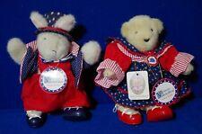 NABCO Plush Muffy Vanderbear & Hoppy Vanderhare Yankee Doodle