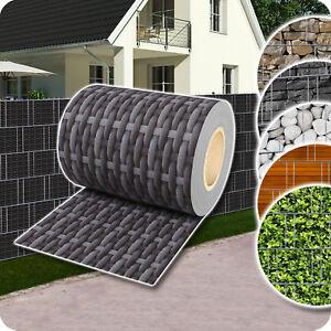 Sichtschutz-Rolle-PVC-Zaunfolie-fur-Doppelstabmatten-Zaun-Streifen-Poly-Rattan