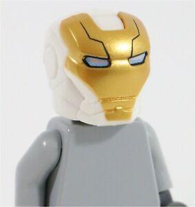 LEGO-SPACE-IRON-MAN-WHITE-MINIFIGURE-HELMET-X1-PART-76049-MARVEL-SUPERHEROES