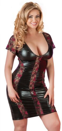 Dessouskleid Kleid  Dessous XL XXL XXXL XXXXL Wetlook Minikleid