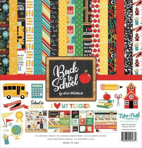 Echo Park BACK TO SCHOOL 12x12 Collection Kit Boy Girl Scrapbook Planner