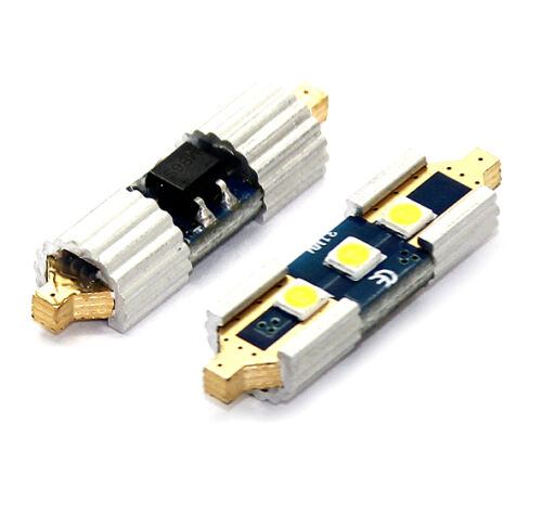 2x Lampen Soffitten 31MM 3x3030-SAMSUNG-SMD CANBUS CE XENON WEISS 12V 2 STÜCK
