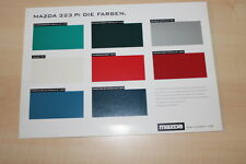 66963) Mazda 323 P - die Farben - Prospekt 01/1997