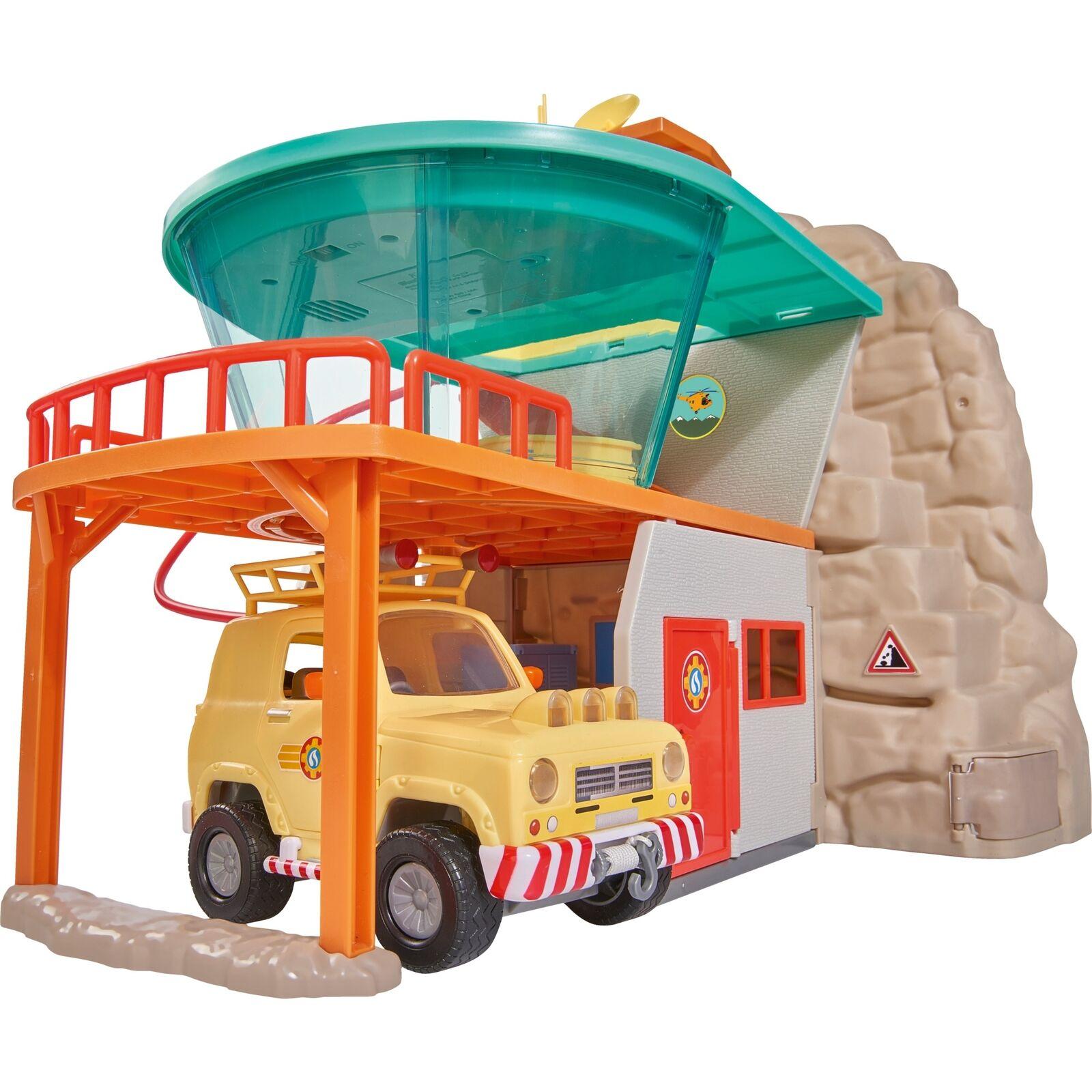 Simba Feuerwehrmann Sam Bergrettung mit Figur, Konstruktionsspielzeug