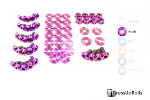 Dress Up Bolts for 05-09 Ford Mustang Purple Ti Titanium Engine Bay Kit