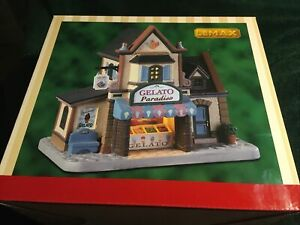 Lemax GELATO PARADISO-Holiday Village Porcelain Lighted Building