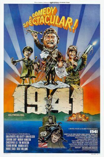 Movie Poster Print A0-A1-A2-A3-A4-A5-A6-MAXI 913 1941 Steven Spielberg 1979