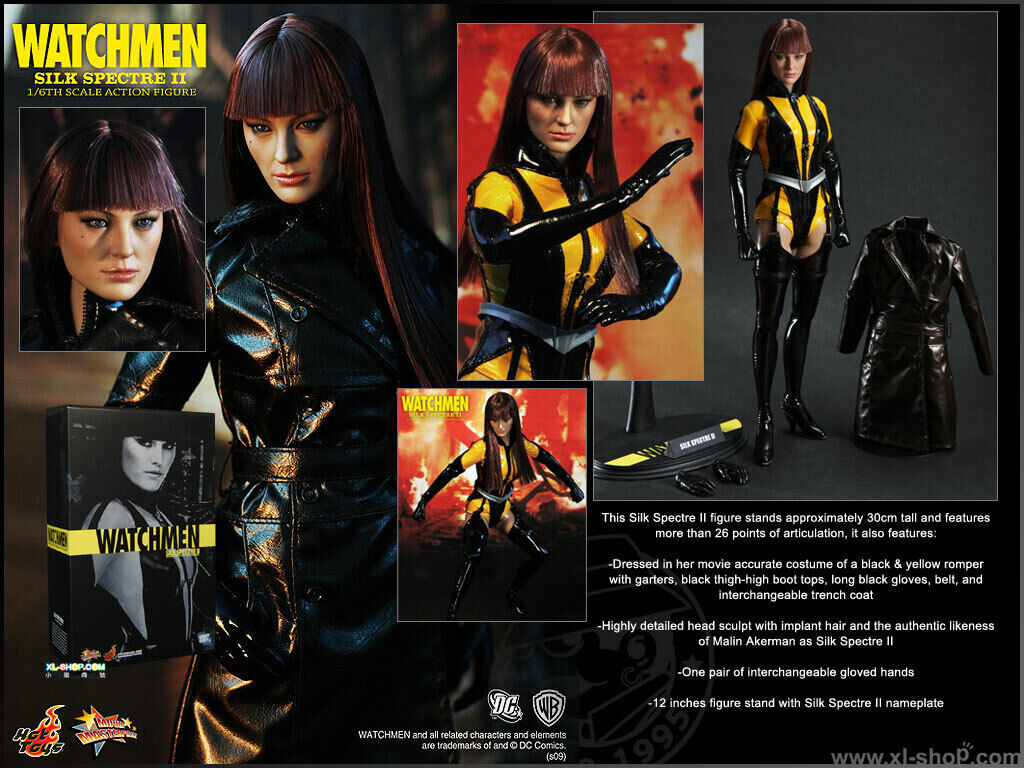 HOT TOYS 1 6 SCALE WATCHSie SILK SPECTRE II 12 Action FIGURE statue MMS 102