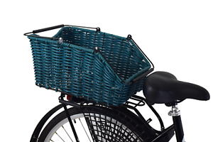 BIKE BASKET WICKER NATURAL FRONT ONE CLICK WITH HANDLE LARGE